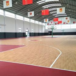 Anti-slip sports flooring indoor basketball court wooden pattern flooring