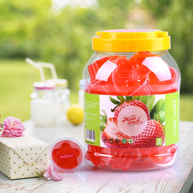 35pcs round jar assorted mini jar fruit pudding jelly