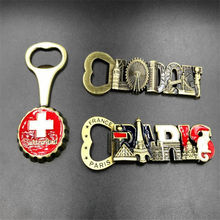 British tourist souvenirs high-grade magnetic stickers metal bottle opener fridge magnet