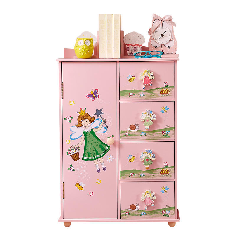 Europe free shipping Lovely Baby Wardrobe Wooden Fairy Coat Wardrobe for Children Bedroom furniture