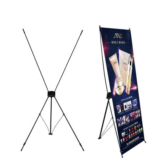 Retractable 80*180 display X banner stand exhibition advertising products