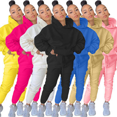 2021 popular style customize womens plus size polyester blank jogger sets track sport suits