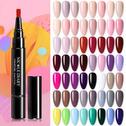 74 Colors 3 in 1 One Step UV Gel Soak off UV Gel Polish Nail Art Gel Varnish Nail Polish Pen