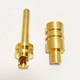 custom brass gold plated pin connector types PCB truck battery terminal for motorcycle internal spring connection