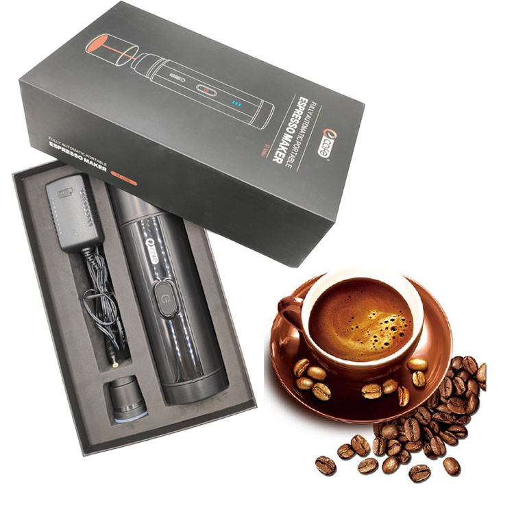 Portable coffee maker with heating electric coffee machine espresso capsules coffee for travel carry