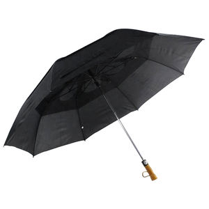 Auto open double layer design two folding fiberglass windproof umbrella for promotional