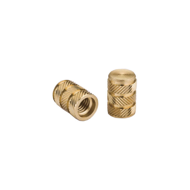 custom precision CNC machined ISO standard brass threaded insert for wood furniture