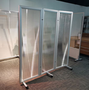Plexiglass room dividers restaurant screen divider custom 3 panel folding screen folding rolling partition