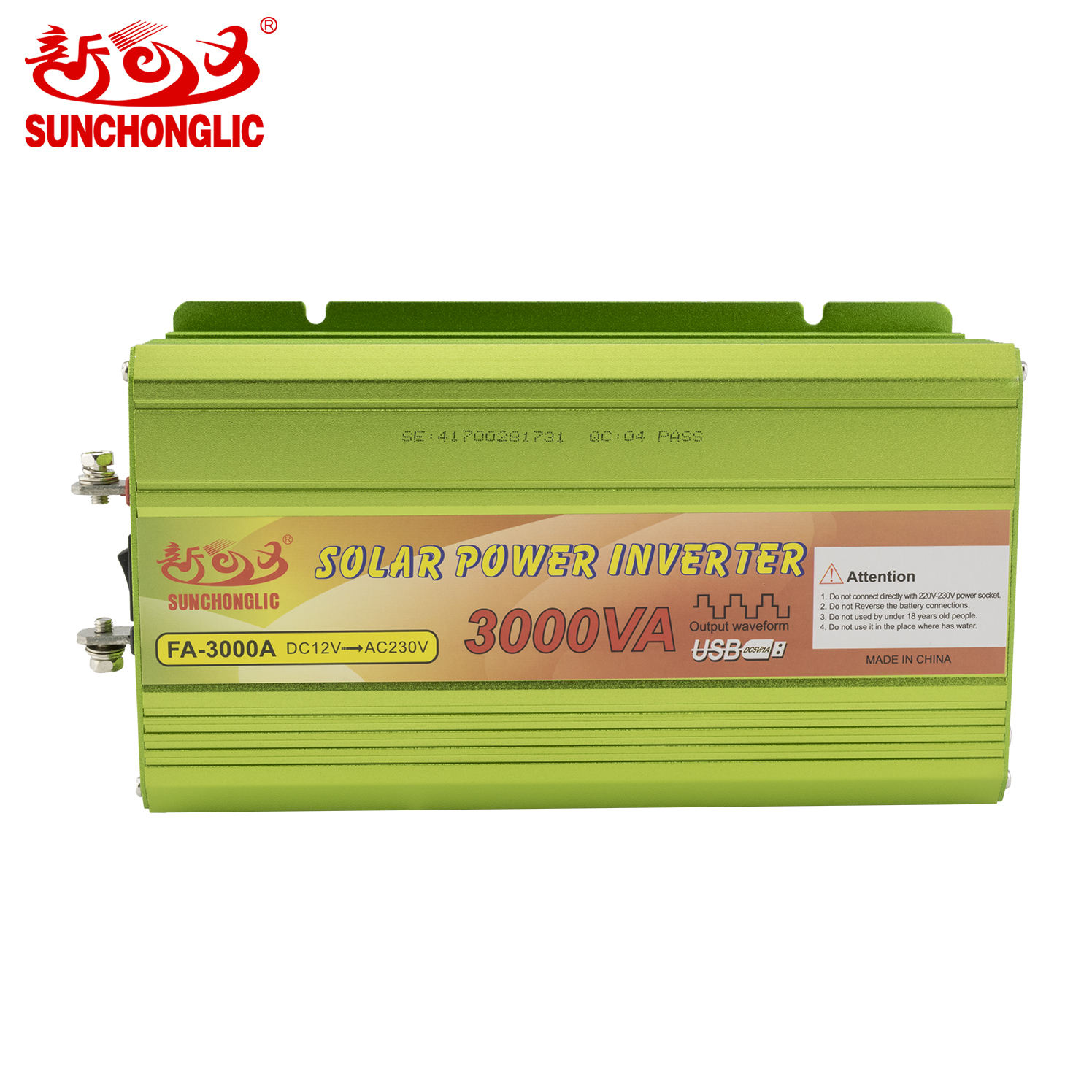 Sunchonglic Modified sine wave 3000VA 12V 220V 3000W Off Grid Solar Power 3kw Inverter