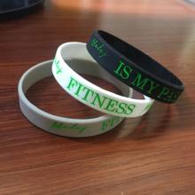 fashion thin silicone bracelet debossed silicone wristbands personalized wrist bands