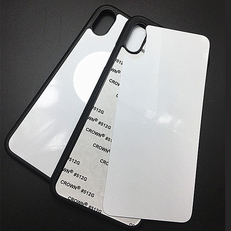Shockproof sublimation blank 2d tpu glass phone case for samsung for iphone 12 case cover