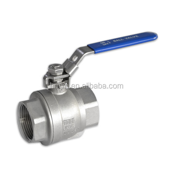 3pc Ball Valve 1000 WOG Ball Valves Stainless Steel Ball Valve 1pc 2pc 3pc Npt Bspt Bsp