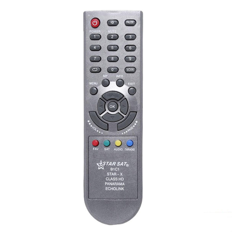Star sat remote control for receiver