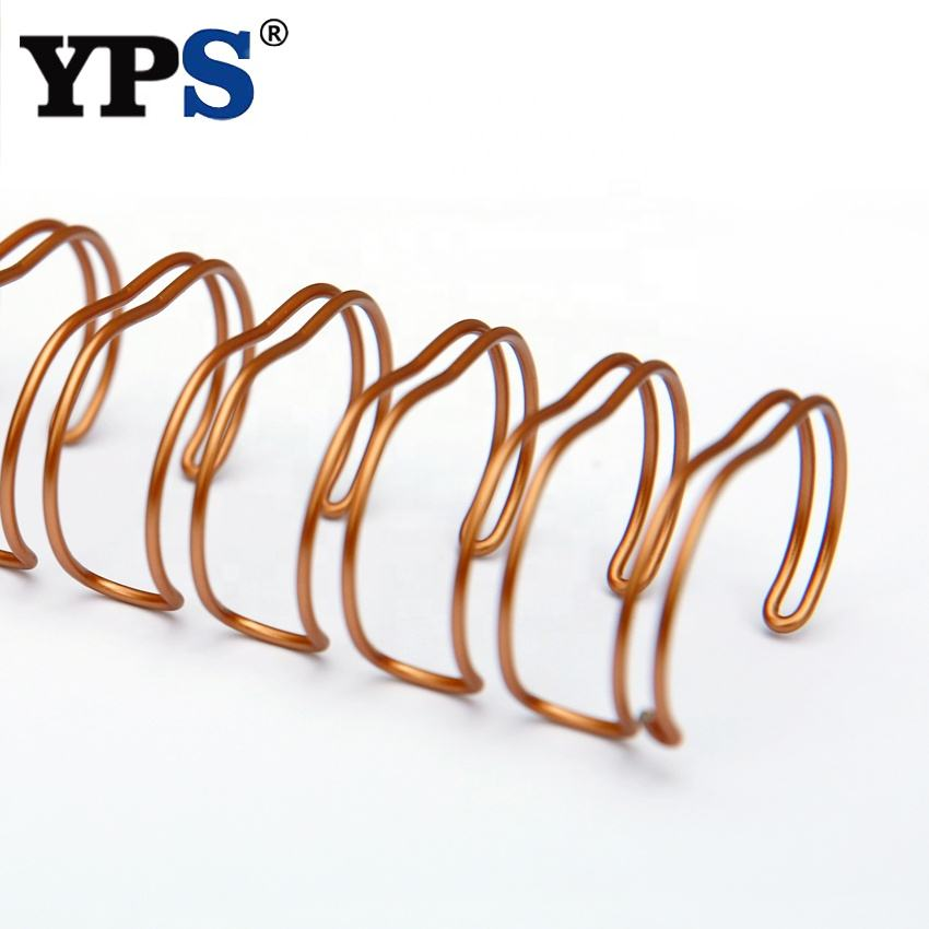 High Quality Metal Double Wire O Spiral Binding Coil Rose Gold Color Wire O Ring
