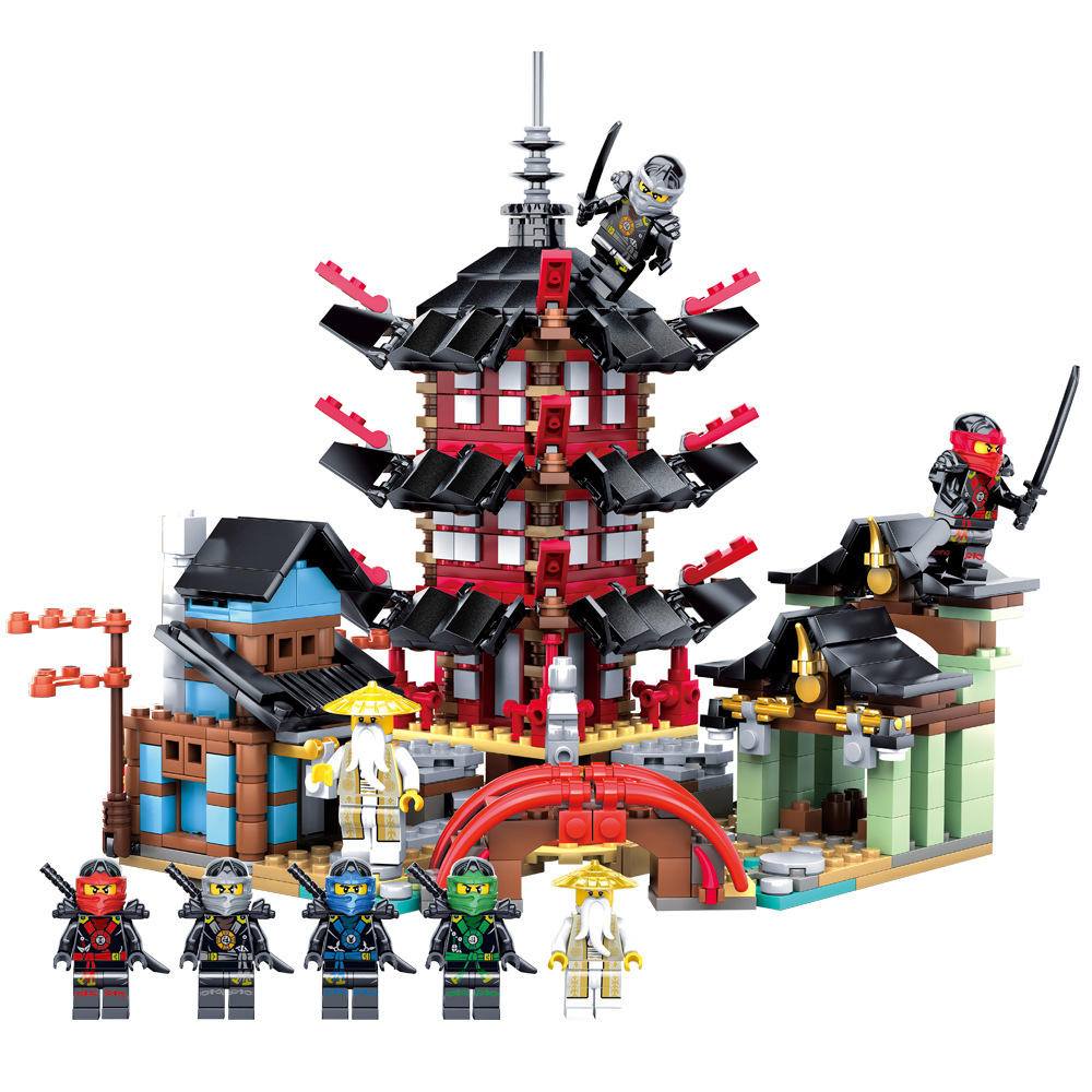 810PCS legoing ninjagoed for ninjagoed diy temple building blocks toys sets legoing architecture