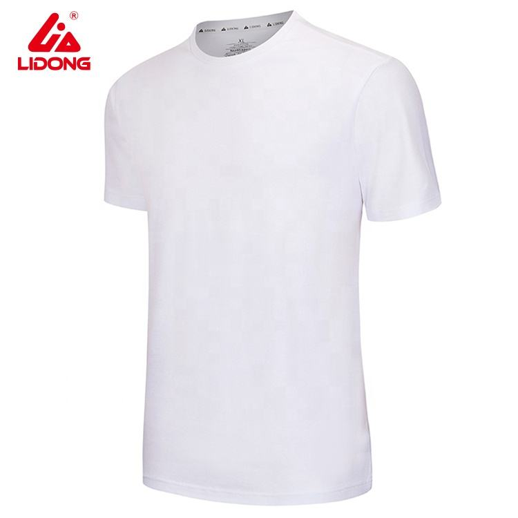 Hot sales 65%cotton t shirt factory custom cheap white t shirts mens plain for printing logo