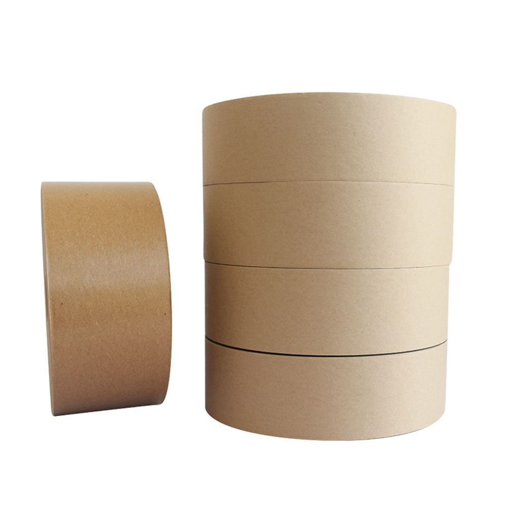 Custom Electric Fiber Reinforced Gummed Packing Brown Kraft Paper Tape