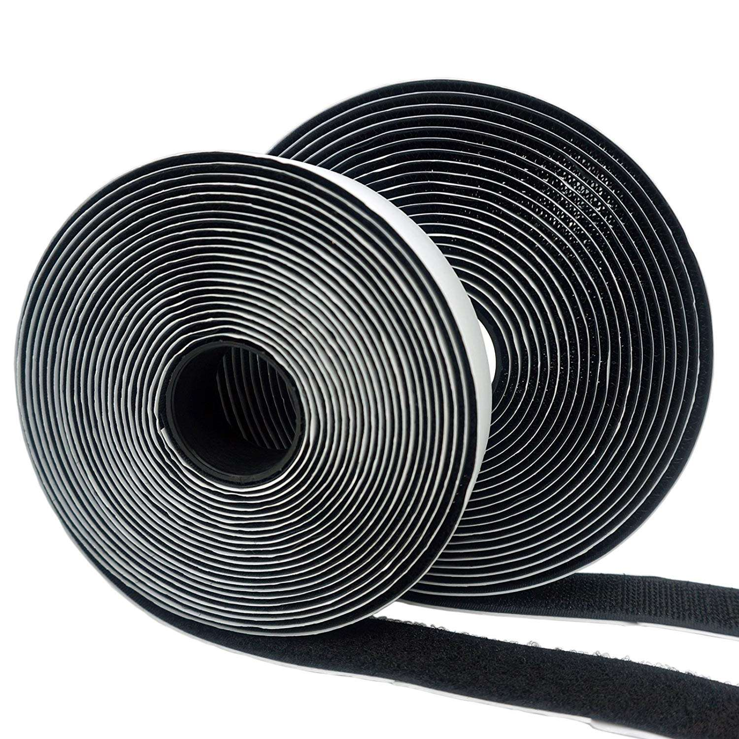 Strong sticky adhesive hoop and loop fastener tape