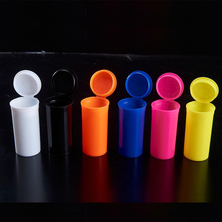 도매 가격 다채로운 13 Dram 19 Dram 처방 컨테이너 약 병 튜브 튜브 Rx
