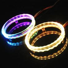 DLAND RGB OPTICAL LED ANGEL EYE RING HALO FOR BMW STYLE, WITH 80MM AND 95MM AVAILABLE