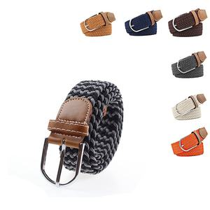 hot selling Top Design Mix Color Mens Woven belts Custom Braided Stretch elastic belt