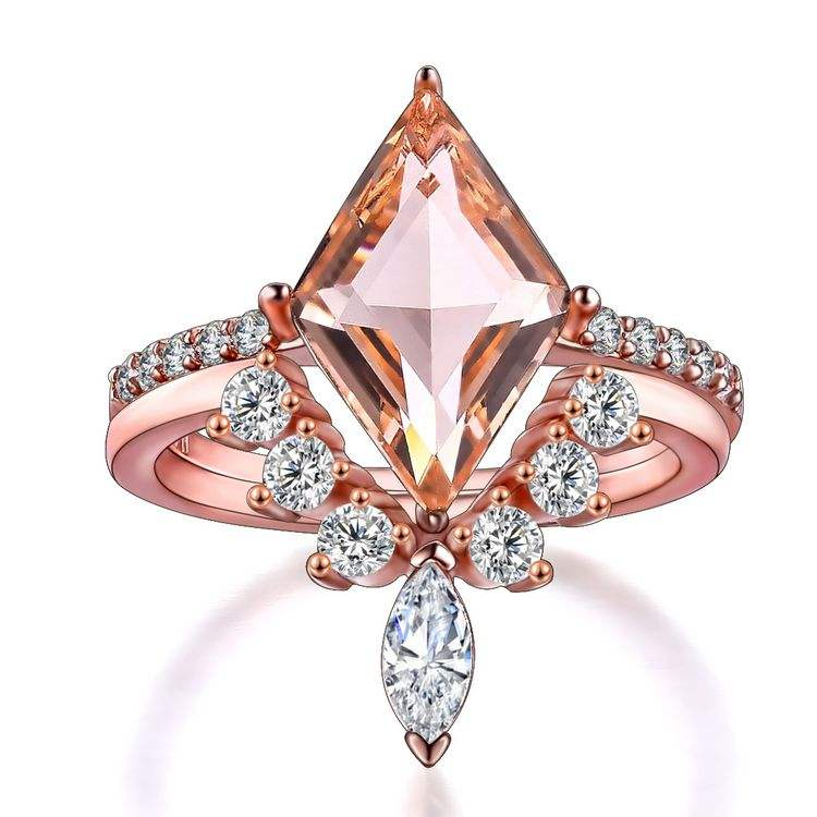 ladies rings rose gold sterling silver rings zircon stone jewelry diamond women's wedding