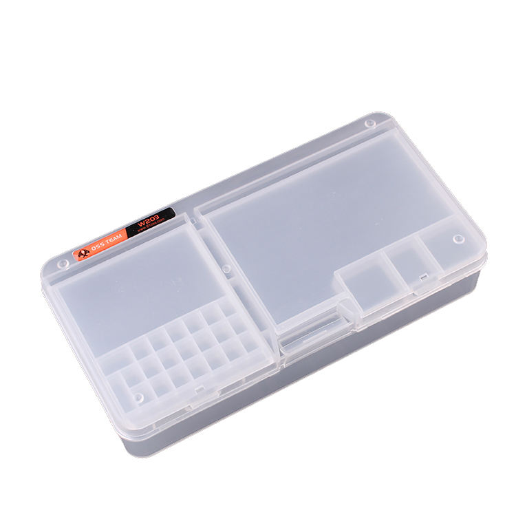 Multi Functional Mobile Phone Repair Transparent Toolbox For IC Parts Screws Smartphone Opening Tools Portable Case
