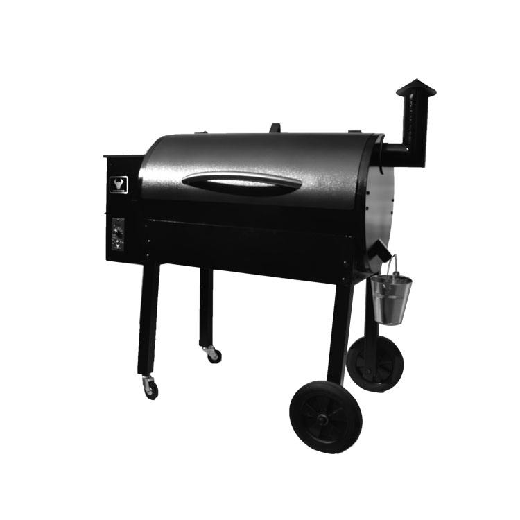 75 KG WIFI controller remaveable wood pellet BBQ grill with wheels