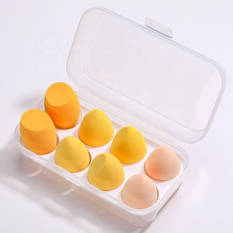 BS-MALL trucco sponger set 8pcs morbido bellezza blender foundation private label fondazione trucco sponger con il caso
