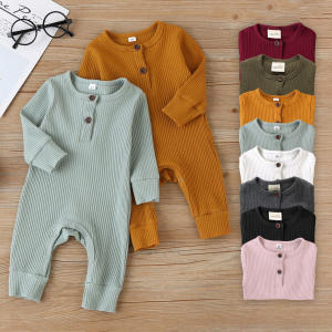 Wholesale 100% cotton baby clothingJumpsuit long Sleeve Bodysuit Clothes Boys Girls Funny Infant Clothing Baby Rompers
