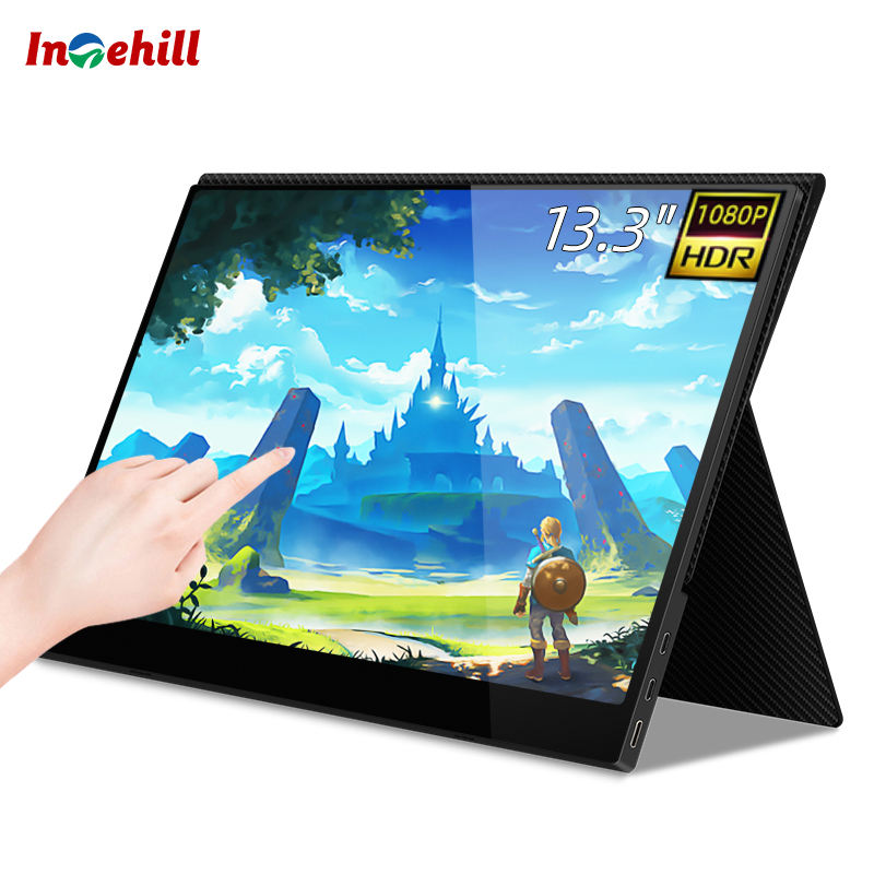 Intehill 13.3 inch 1080P ultra thin Portable Monitor with Capacitive Touch Screen Panel for PS4, Xbox, Switch, mini PC, Laptop