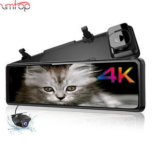 Zimtop 4K Hisilicon 3559 Sony IMX 415 Car DVR Super Night Vision 11.88inch Rearview Mirror Dash cam