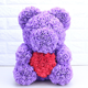 2019 New Styrofoam Bear PE Foam Rose Flower Bears DIY Handmade Material For Kids Girl Gift Wedding Decoration 40cm