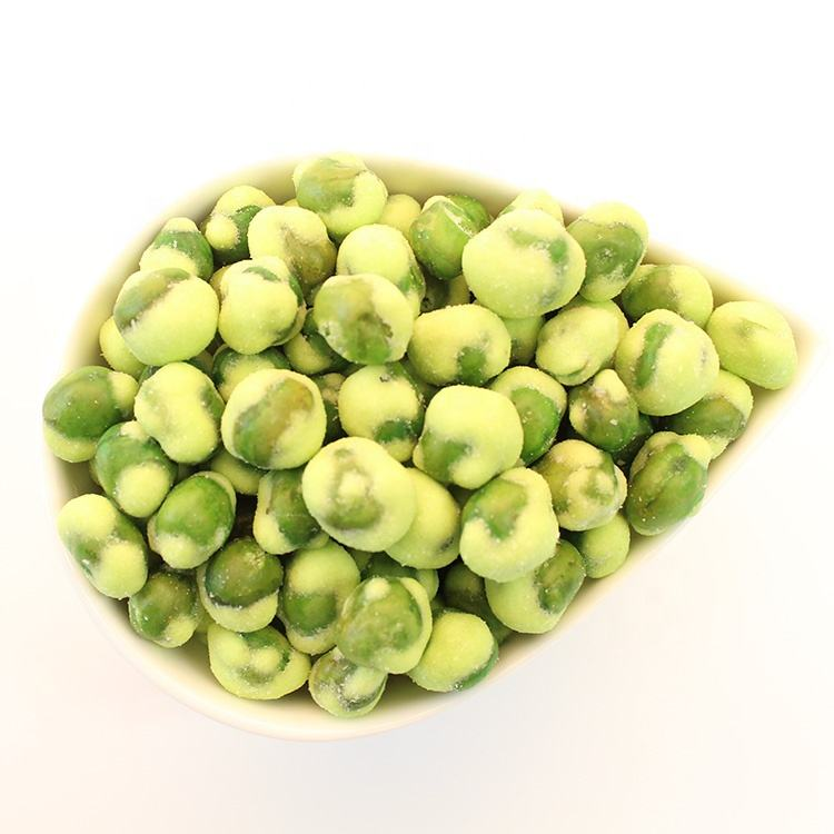 Kosher Certificate Yellow Wasabi Coated Green Marrowfat Peas
