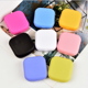 mini square pocket candy color contact lens case small travel kits CA0228