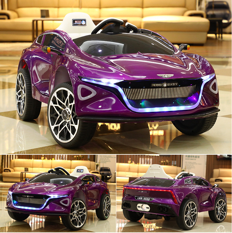 Metal painted purple black color kid's car electrical remote control car