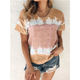 Summer Women Clothing Women Plus Size Tie Dye Summer Custom T Shirt Printing Loose Style Pretty Women Clothing Top