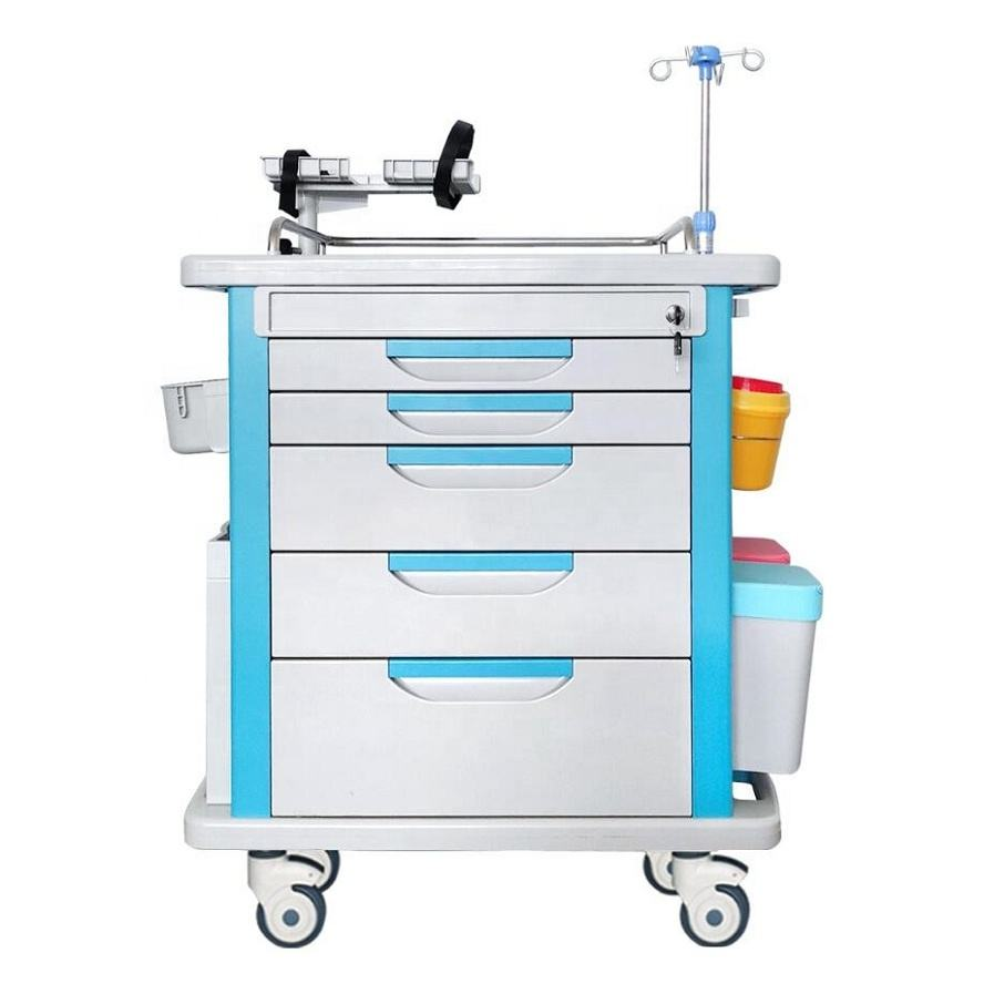 Hospital Emergency Cart ABS Hospital Emergency Crash Cart