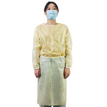 basic pp pe medical level 2 sms disposable isolation gown with knitted cuffs