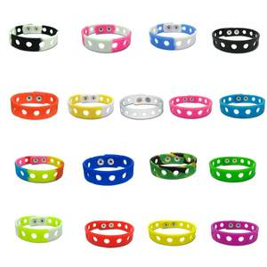 Custom 18CM Candy Color Silicone Wristbands Soft Bracelets Bands fit for Charms Flexible Wrist Band Sports Bracelets Gift