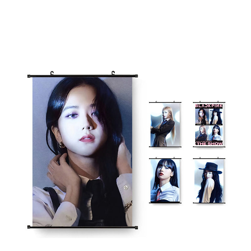 Wholesale KPOP Blackpink The Album Lovesi Girl Concept Photo Tapestry Fabic Poster Hanging Pictures