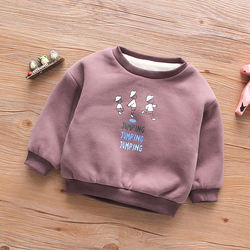Online wholesale low price high quality long sleeve ground collar cotton cute boutique sweater cartoon 1-6 years