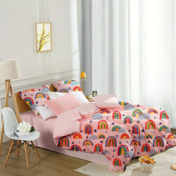 Bedding Set Supplier Chinese Factory Rainbow Pattern Printed