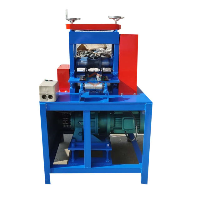 Trade assurance copper wire recycling machine big armoured cable cutting machine thick cable peeling equipment BS-200 for sale