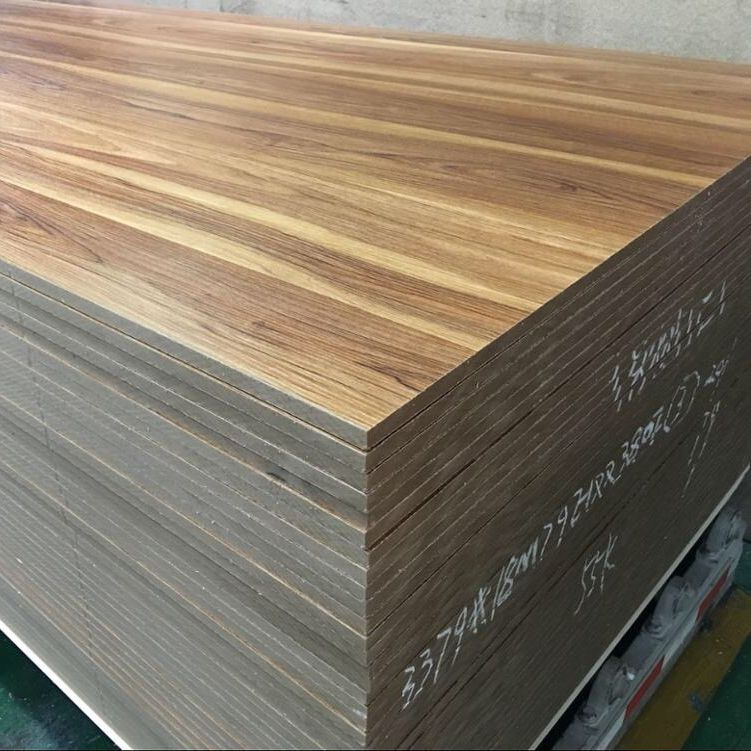 black oak melamine coated mdf