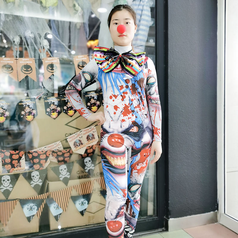 HUAYU Fashion Carnival Cosplay Circus Professional Party Fancy Dress Halloween Insane Clown Costume