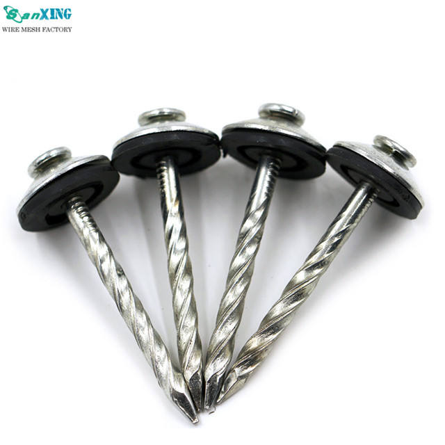 Cheap factory price umbrella head twist shank roofing nails