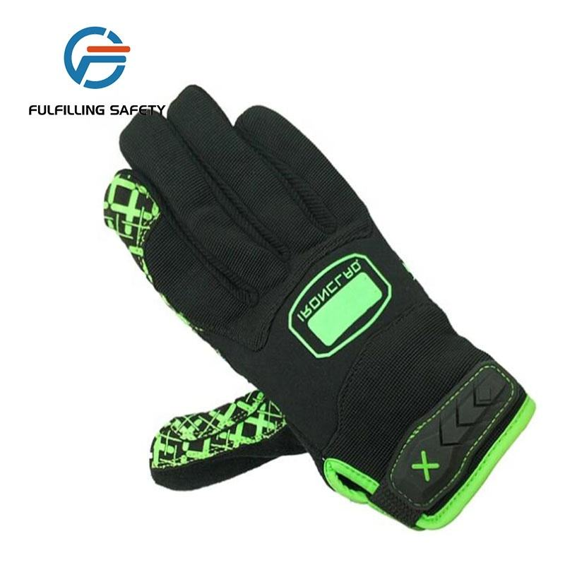 Wholesale Synthetic leather Silicon palm full finger riding motorcycle bike racing gloves