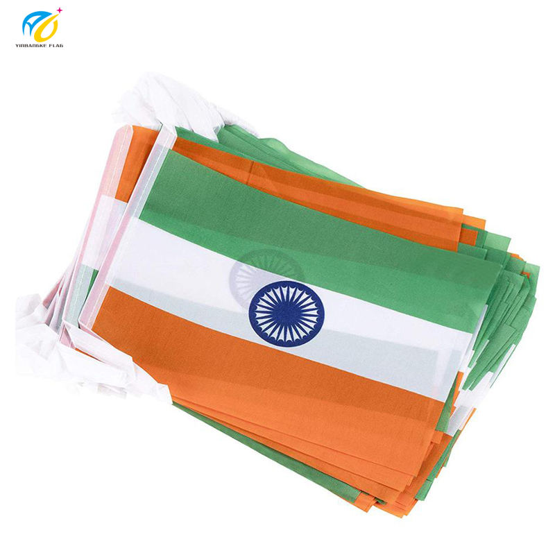 Size Customizable India Decoration using string flag, Indian country flag for grand opening celebration
