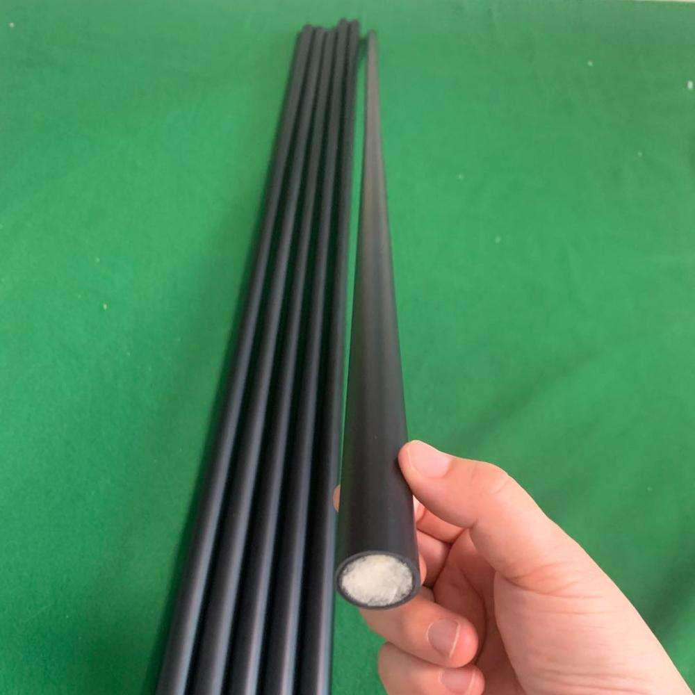 Blank Carbon Fiber Pool Cue Shafts Top Diameter 11.5mm/12mm/12.4mm/12.8mm Billiards Cue Pro Taper Filled with Foam 30inch